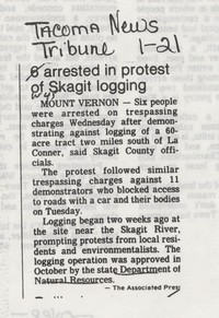 6 arrested in protest of Skagit logging