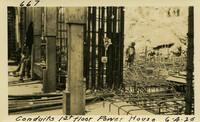Lower Baker River dam construction 1925-06-04 Conduits 1st Floor Power House