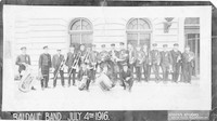 Baidauf Band, July 4th 1916, at Bellingham Federal Building