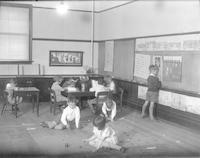 1929 First Grade Class Planning Its Garden