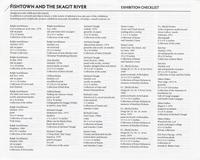 Fishtown and the Skagit River Exhibition Checklist